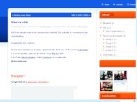 De ons-website met een standaard thema van WP