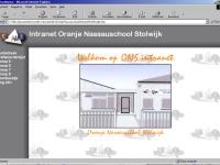 Layout van de ONS-website in 1999