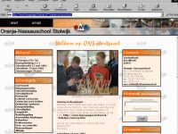 De layout van de ONS-website in 2004