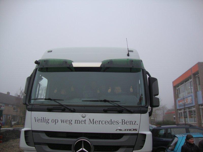dooie hoek vrachtwagen