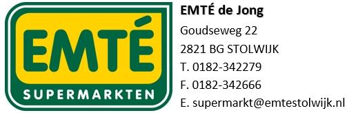 Sponsor EMTÉ de Jong